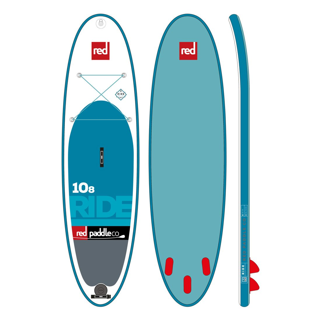 "Nafukovací SUP RED 10'8"" RIDE model 2017"
