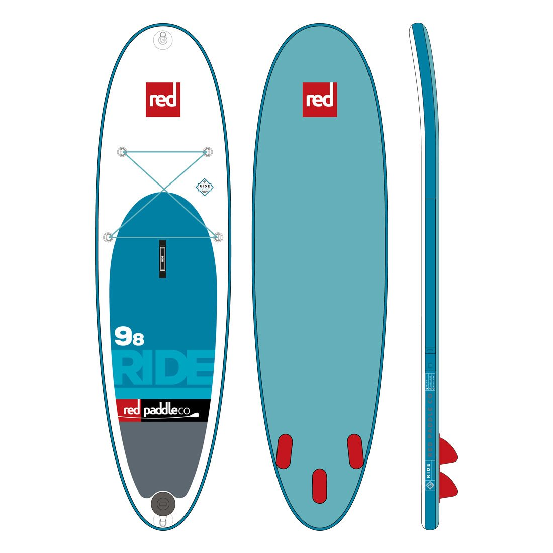 "Nafukovací SUP RED 9'8"" RIDE model 2017"