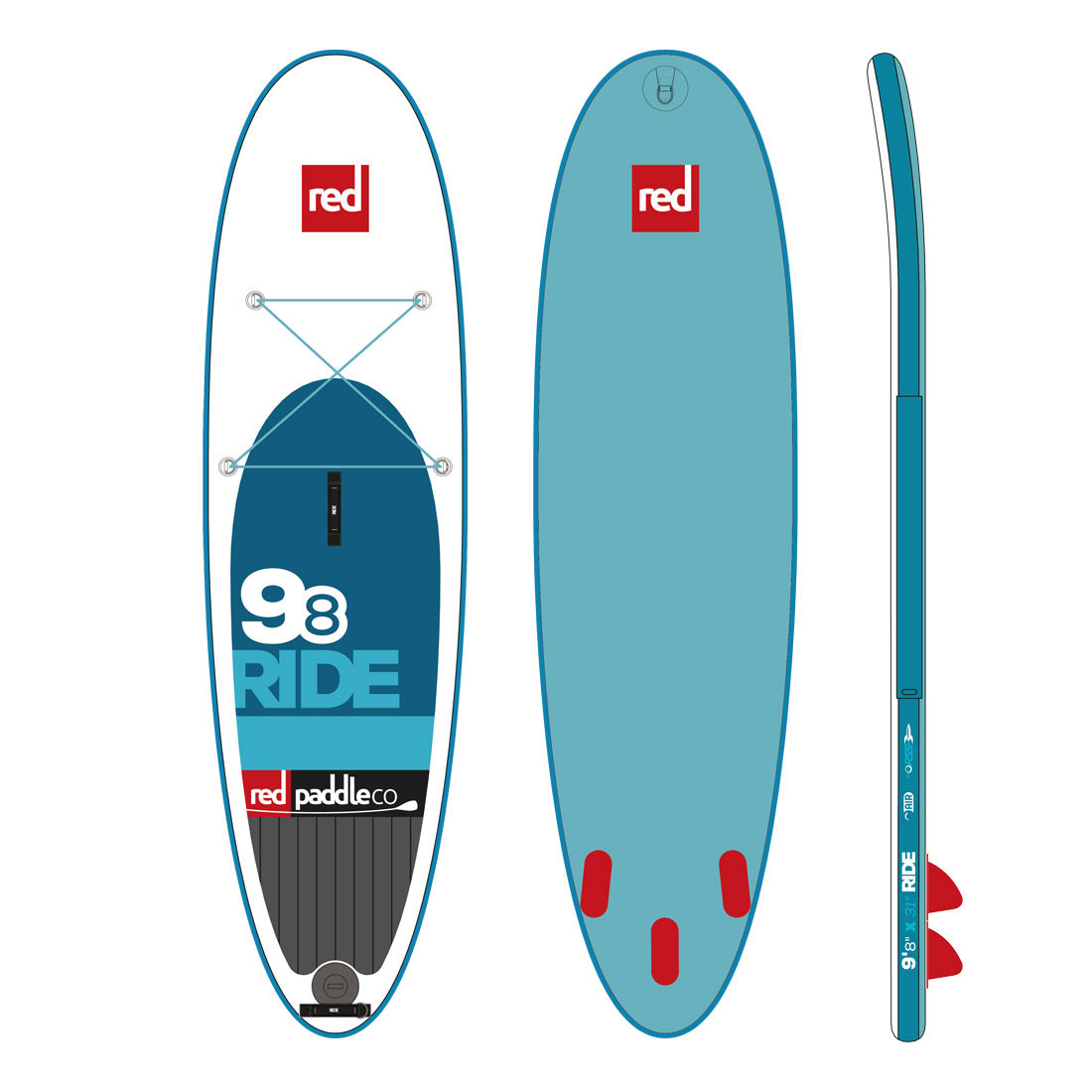 "Nafukovací SUP RED 9'8"" RIDE model 2016"