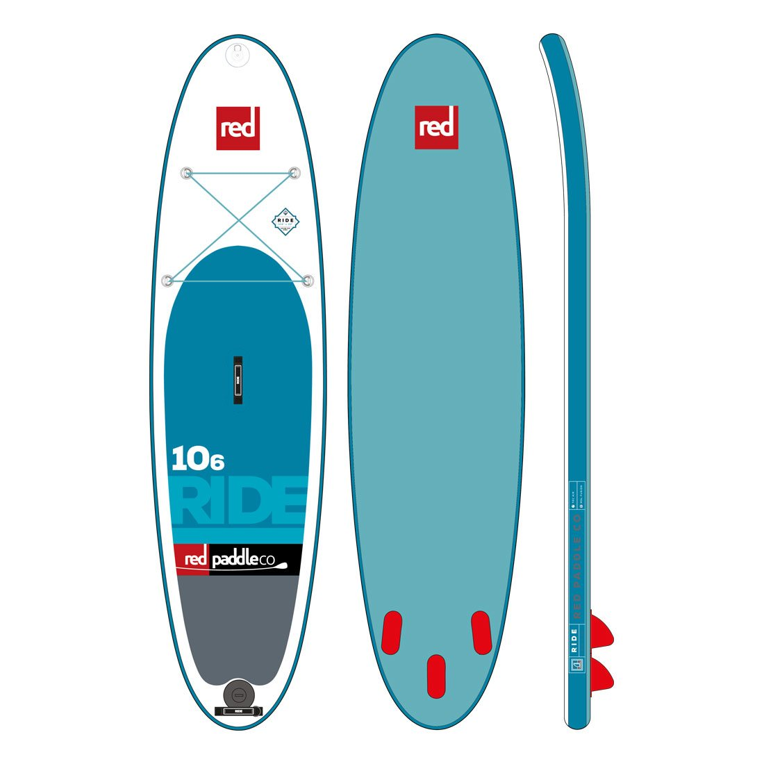"Nafukovací SUP RED 10'6"" RIDE model 2017"